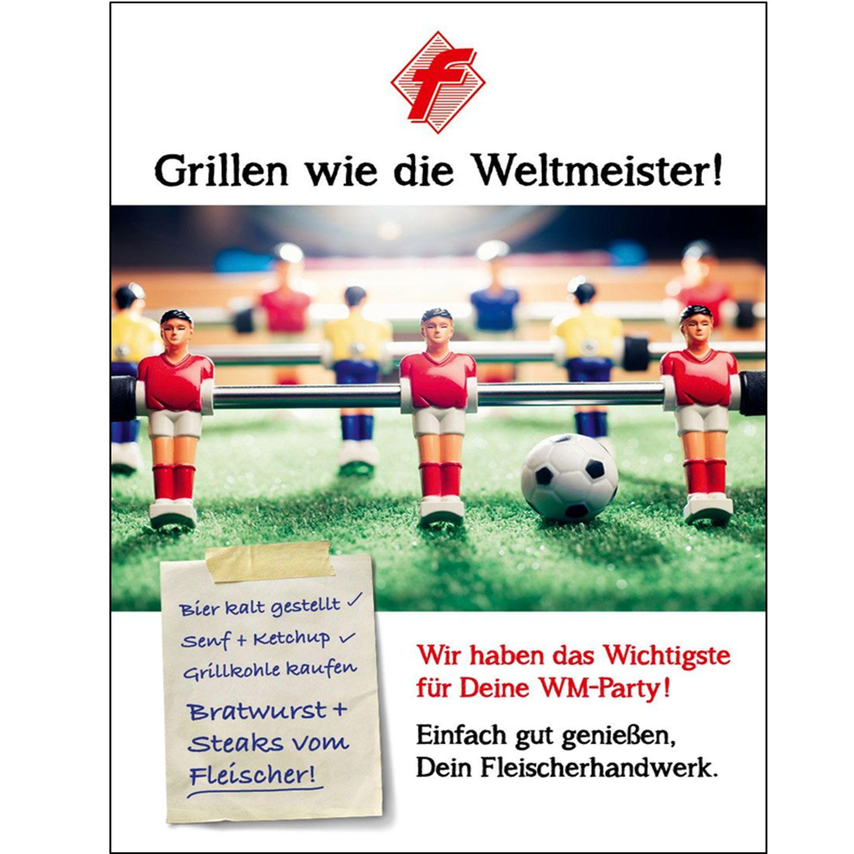 """Plakat """"Grillen wie die Weltmeister"""""""