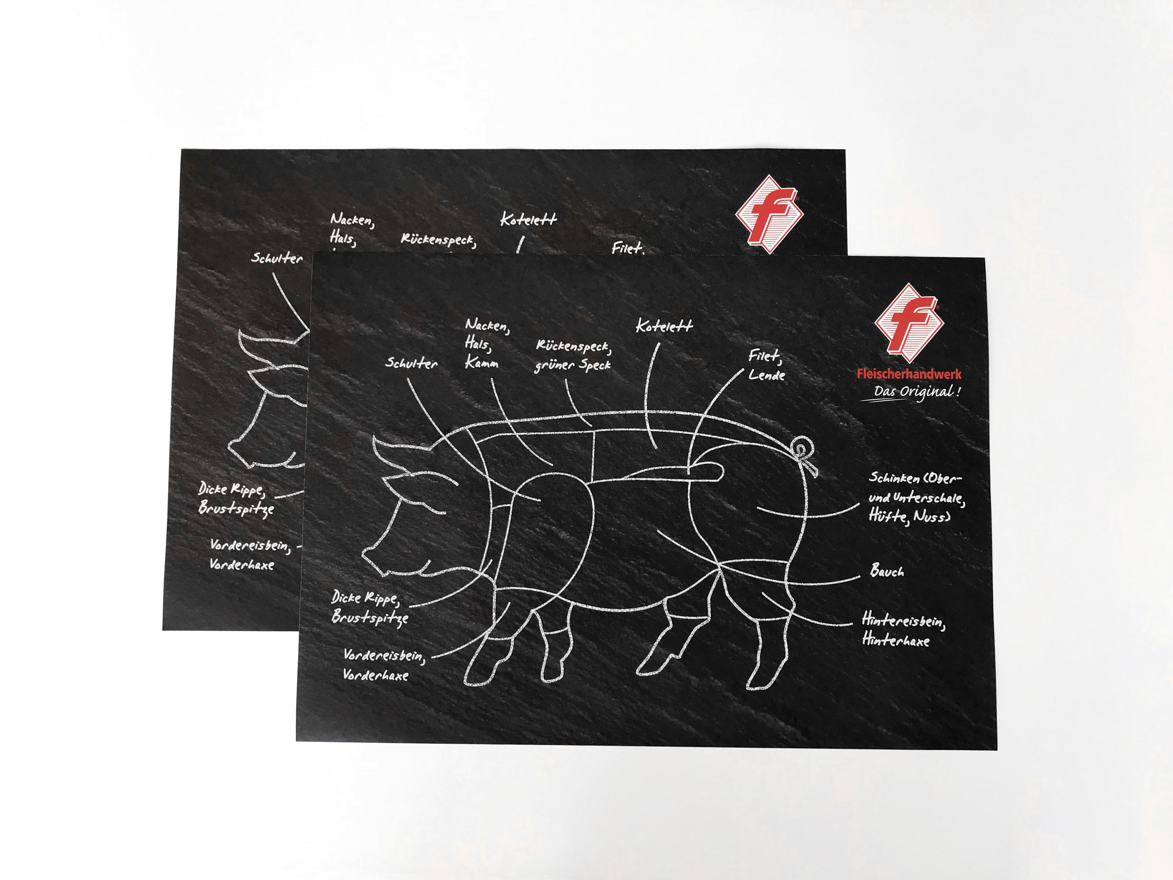 Tischset / Tablett-Einleger Motiv Schwein