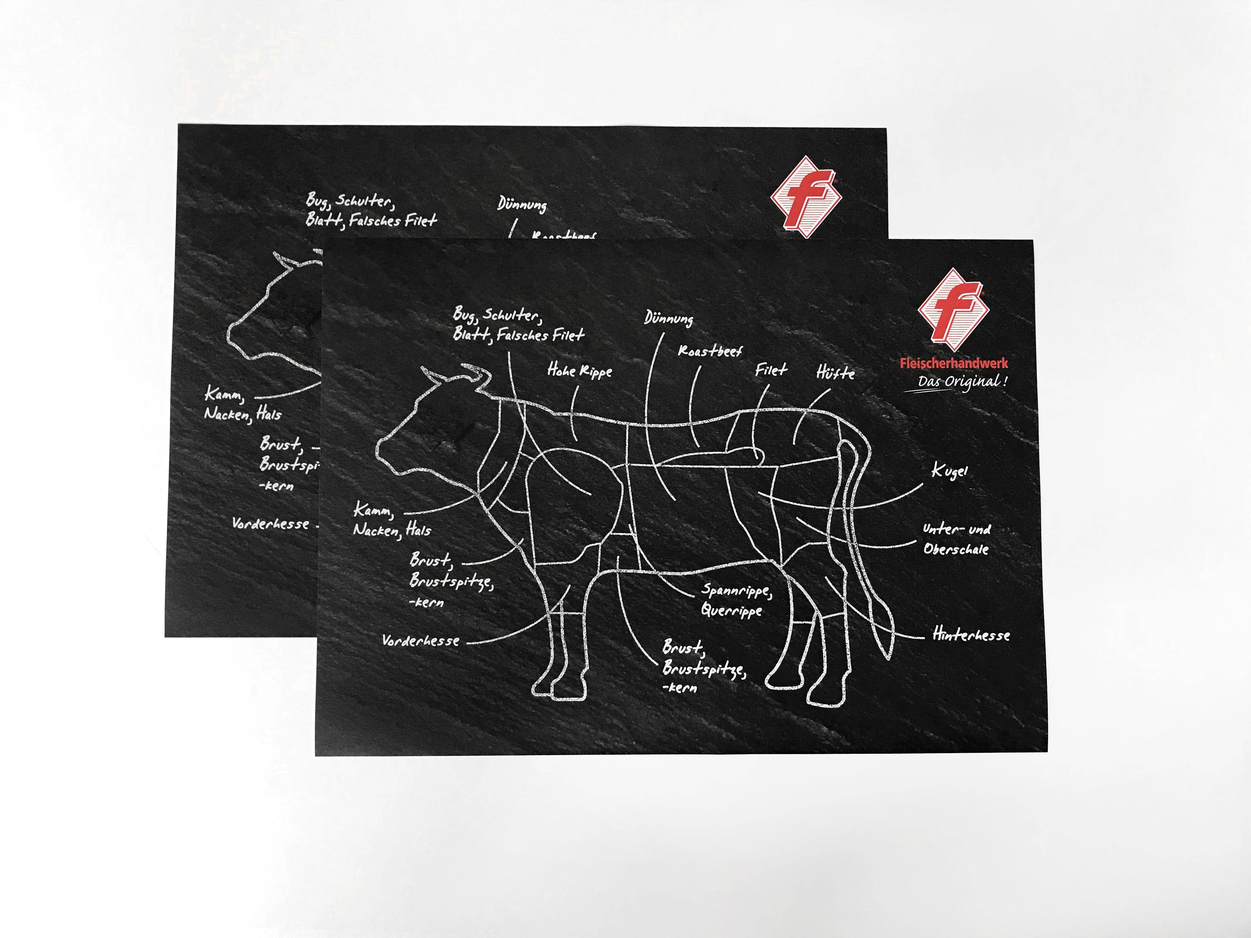 Tischset / Tablett-Einleger Motiv Rind
