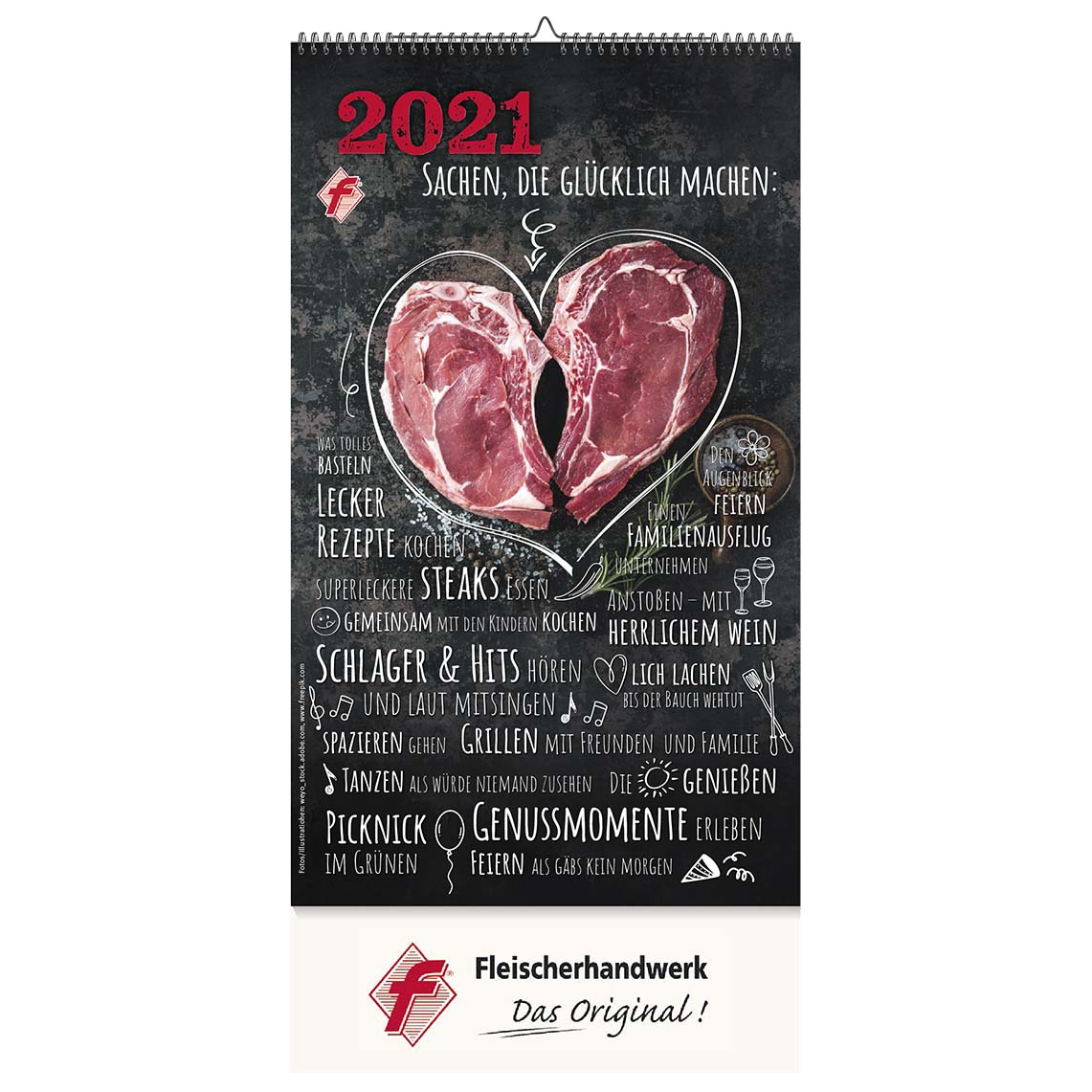 Der FAMILIENKALENDER 2021 - Ohne Eindruck, mit f-Marke